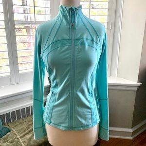 LULULEMON Define Jacket Size 10 Aqua/ Tiffany blue